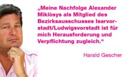 Foto und Statement von Harald Gescher