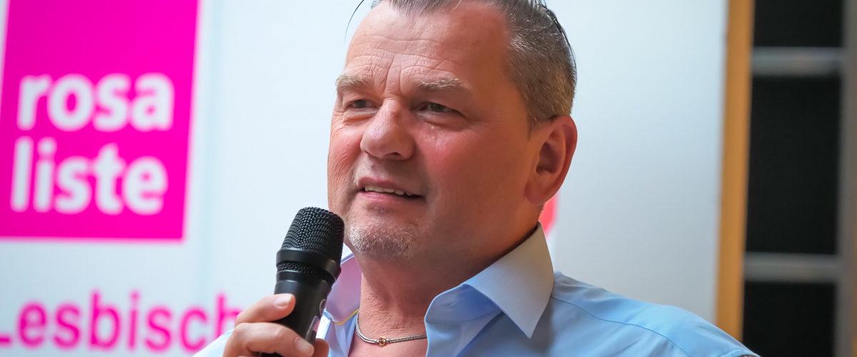 Foto: Thomas Niederbühl beim CSD 2018