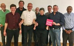 Foto: Kandidaten der Rosa Liste für den BA2