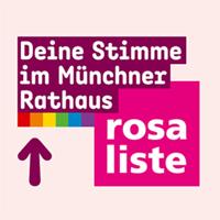Bild: Logo Rosa Liste mit Schriftzug