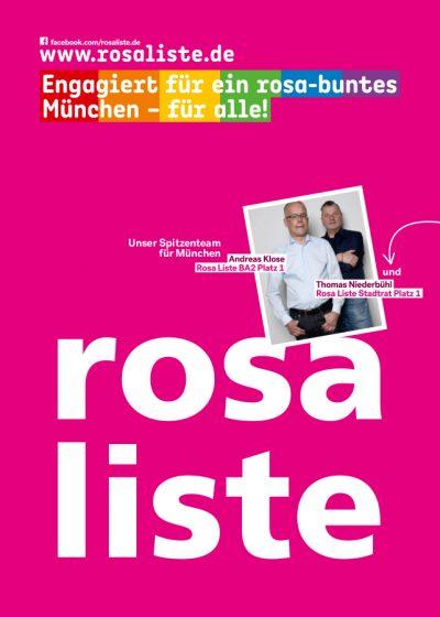 Motiv: rosa liste - engagiert für ein rosa-buntes München - für alle!