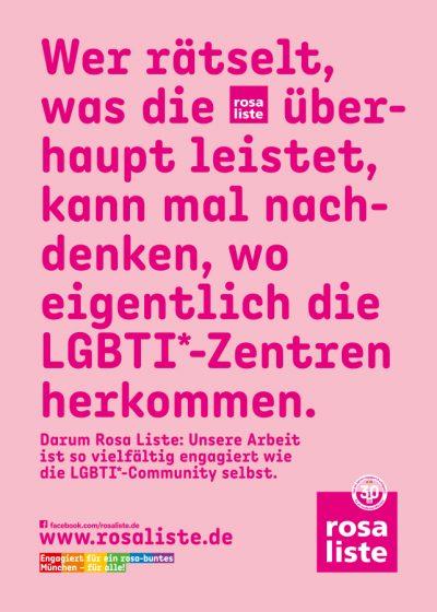 Bildmotiv: rosa liste LGBTI*-Zentren