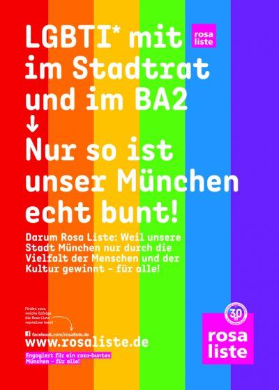 Bildmotiv: LGBTI* mit rosa liste im Stadtrat und im BA2